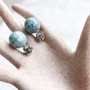 Jewelry - Double Sided Earrings NWOT 0032